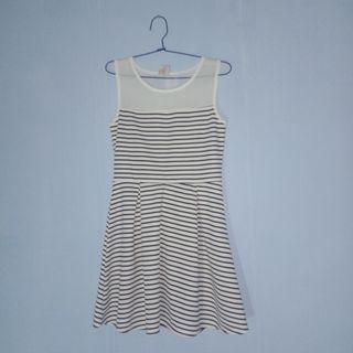 Korean Mini Stripe Dress
