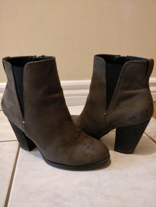 Green Ankle Booties/Call it Spring