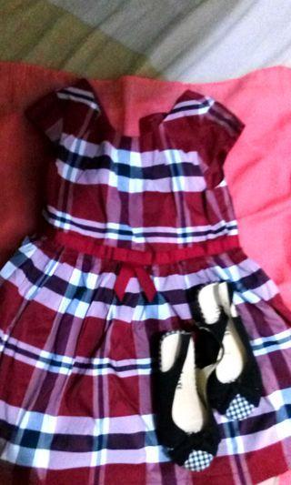 TAKE ALL Girls Bundle Dress and Shoe SIZE 10