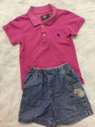 Boy's Polo T & Pants