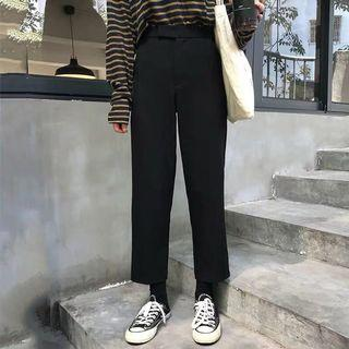 🚚 ulzzang high waisted trousers in black
