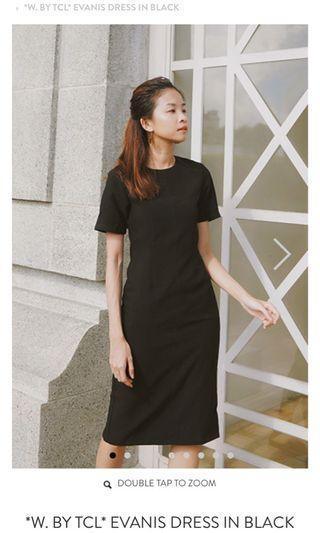 TCL Evanis Midi Black Dress
