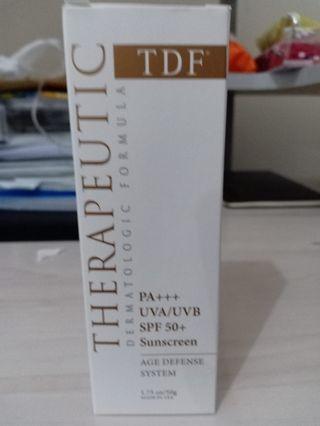 Tdf therapeutic dermatologic formula spf 50 sunscreen