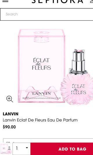 Lanvin Paris perfume 50ml
