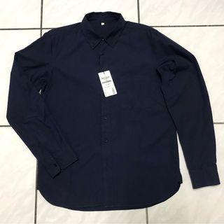 無印良品 MUJI Labo 高端 系列 暗藍色質感 襯衫 日本製