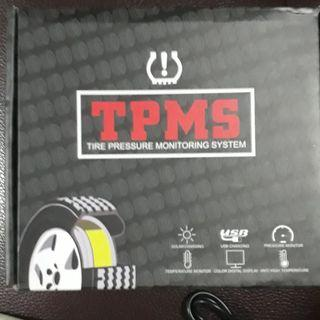 TPMS wireless solar colour alarm external tyre pressure monitoring system