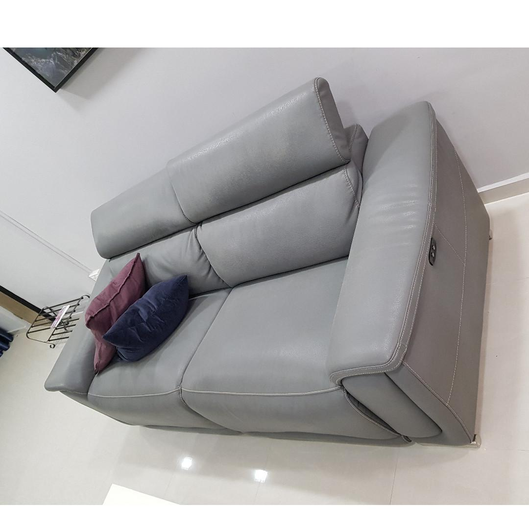 2 Seater Full Leather Sofa With
