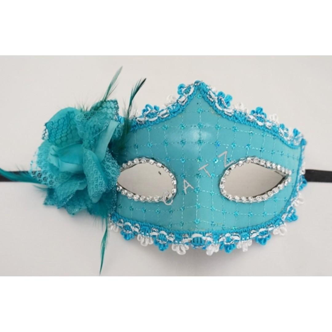 < CATZ >  Mask Masquerade Face Mask Party Mask Party Accessories Flower Mask Props