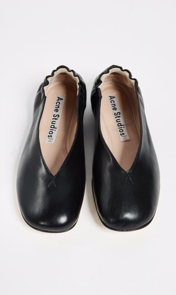 Acne Studios Black Odry Ballet Flats in Size 36 (US6-6.5)