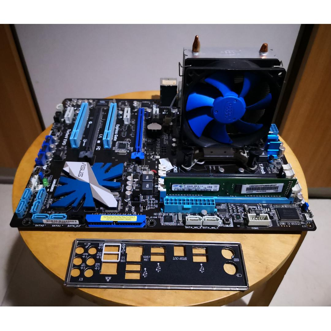 Asus LGA 1156 Motherboard with Ram and CPU Processor