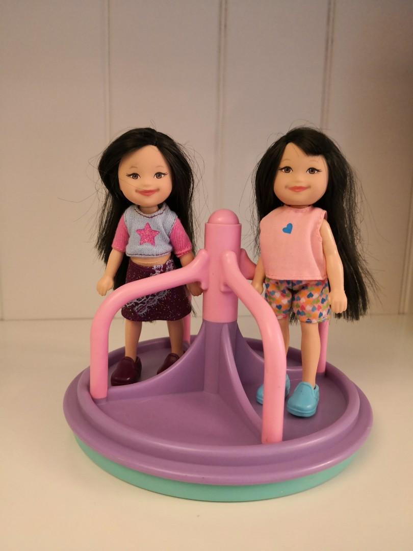 美國 Fisher Price 絕版Loving Family Kelly size Merry-go-round, 可轉(不包公仔), dolls not included