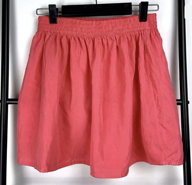 Blue Juice One Size fits most pink bright mini skirt elastic waist casual cute