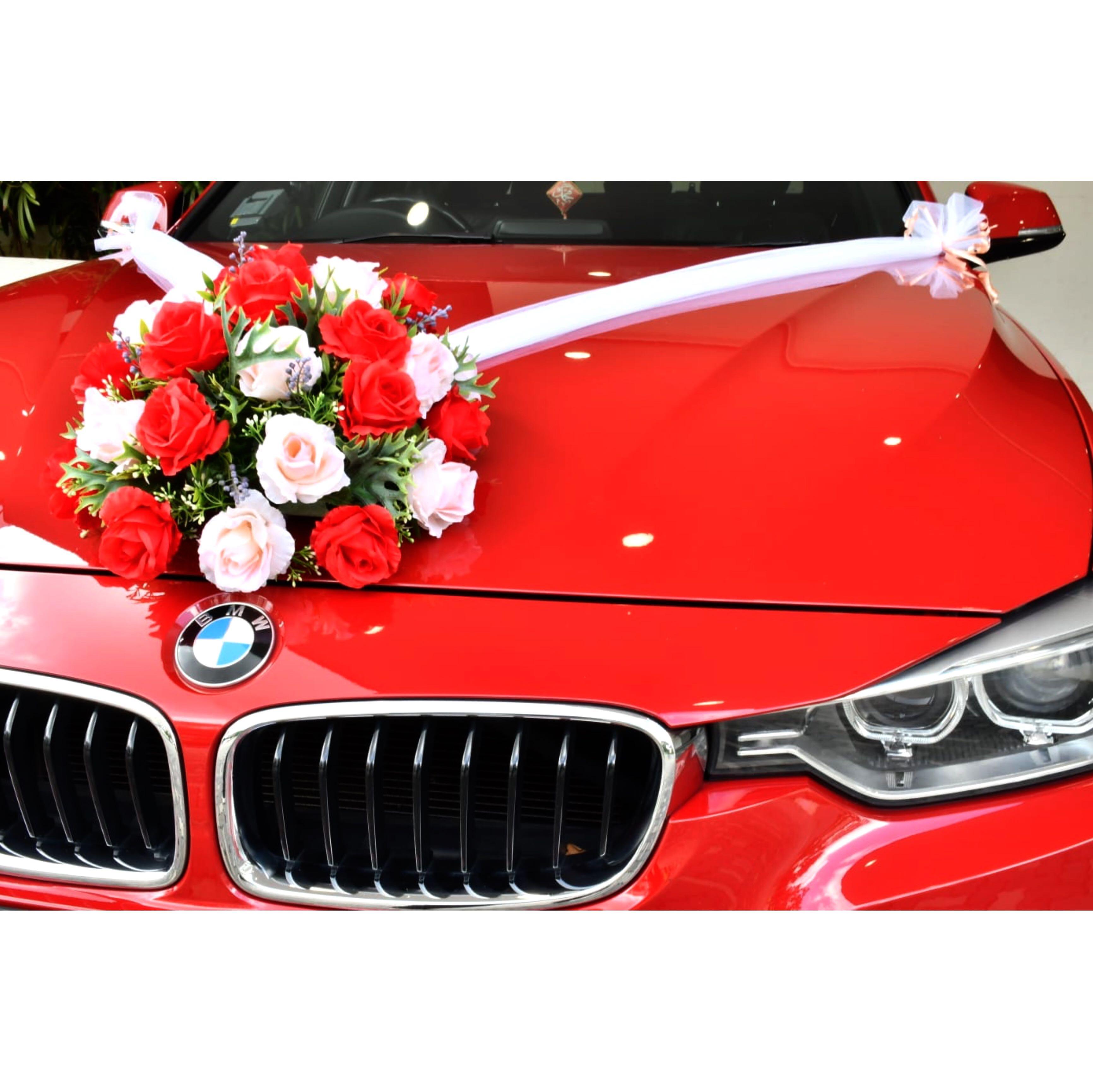 BMW Auspicious Red Wedding car rental / Limousine /