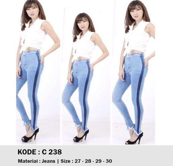 Celana panjang jeans size 28