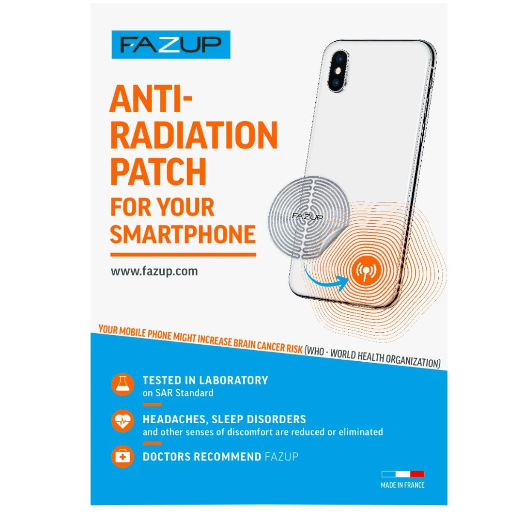 Fazup (Silver Single Pack) Anti Radiation Patch for Smartphone or Tablet