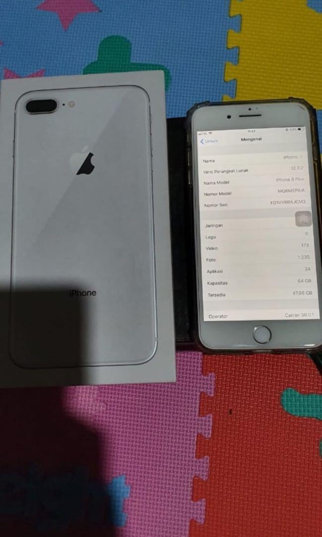 Jual Santai Iphone 8 Plus 64gb Original Bekas Garansi Ibox Telepon Seluler Tablet Iphone Iphone 8 Series Di Carousell