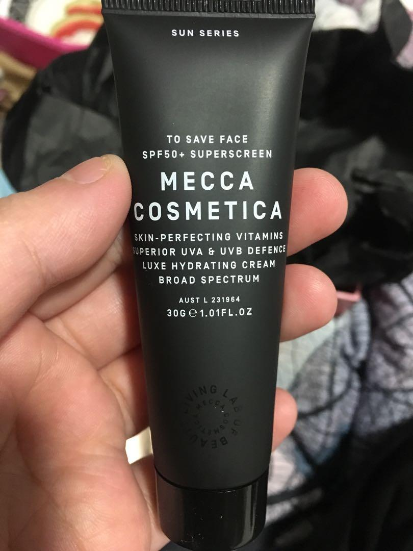 Mecca cosmetica essential trio beauty loop sunscreen mask water