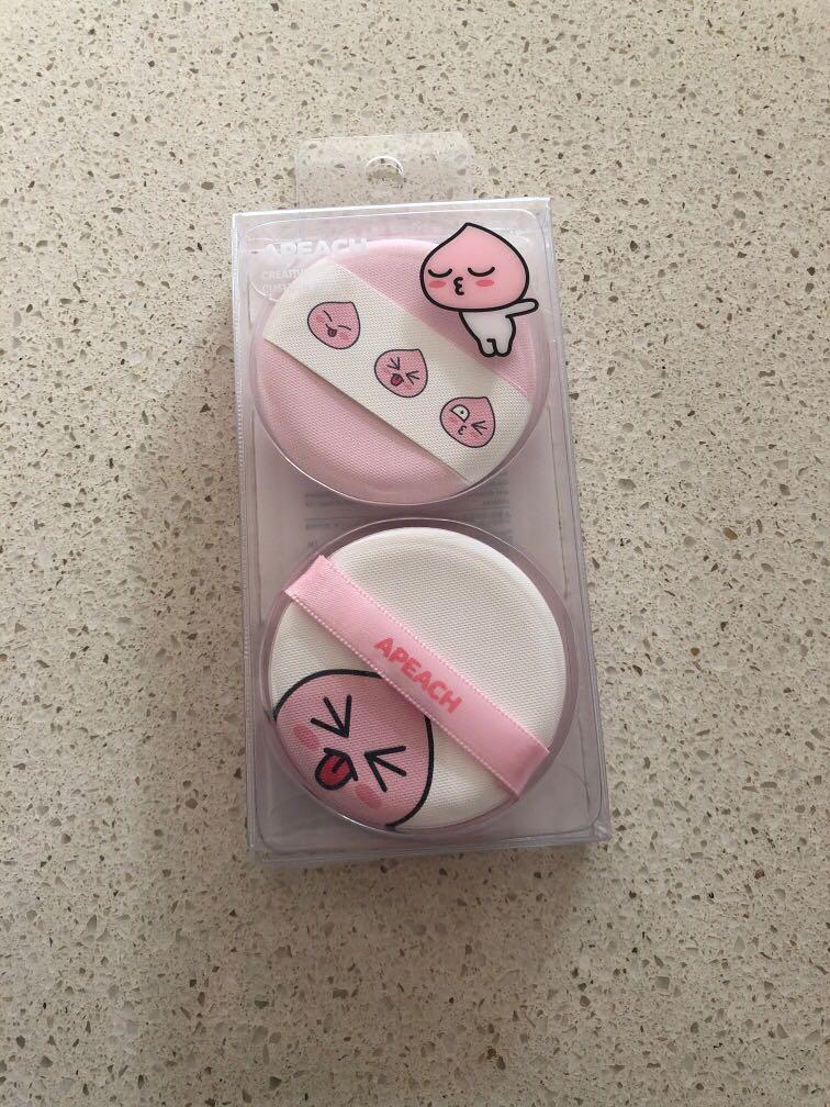 Miniso x Kakao Friends Apeach Cushion Puff Pack New