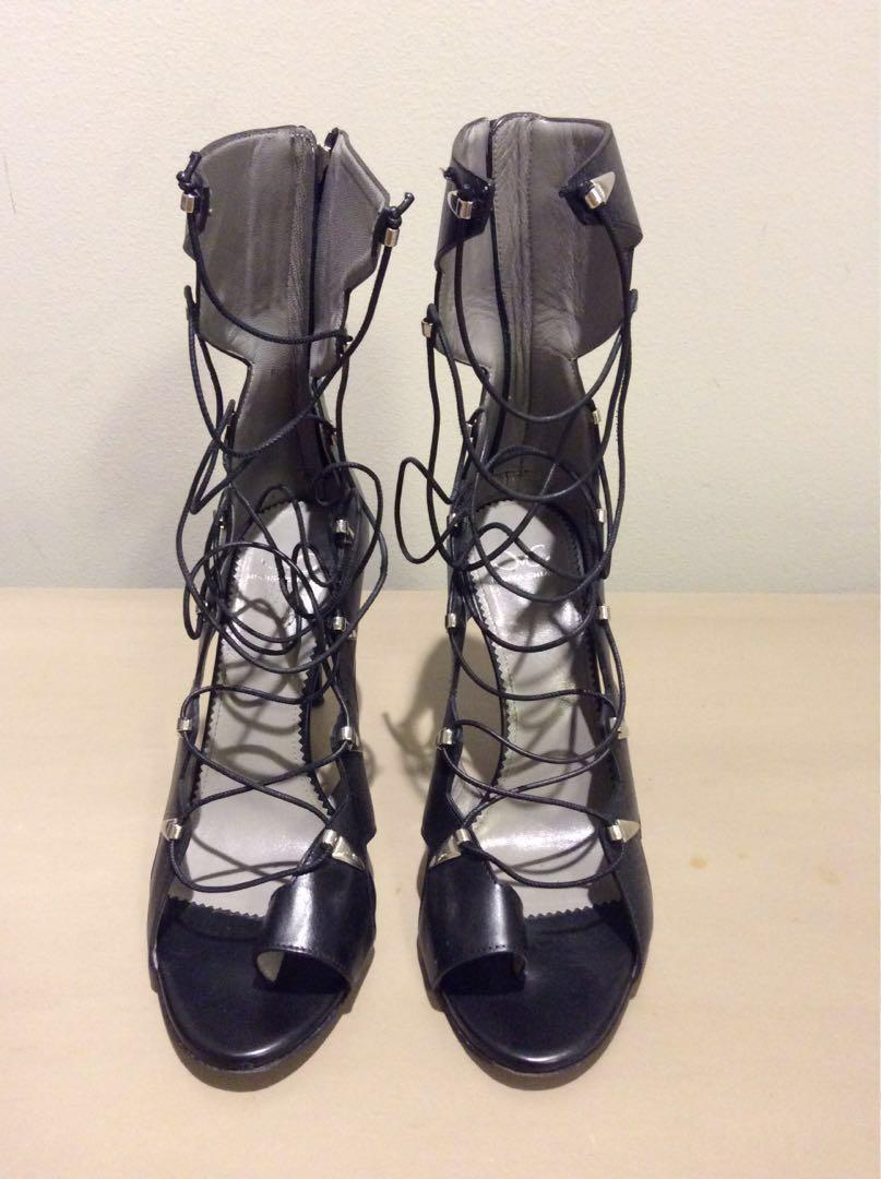 Monika Chiang Vesta black calf sandal