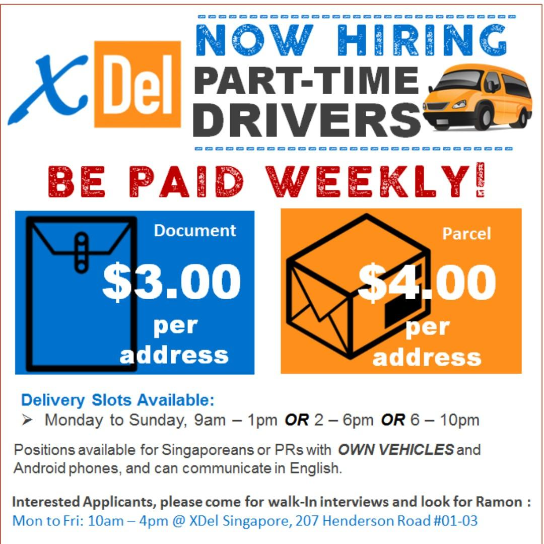 Part-Time Delivery Personnel (With Own Van/Car)