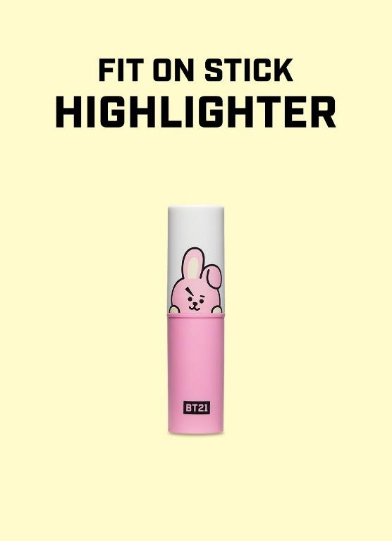 [Ready Stock] BT21 x VT Fit on Stick - Cooky (Highlighter)