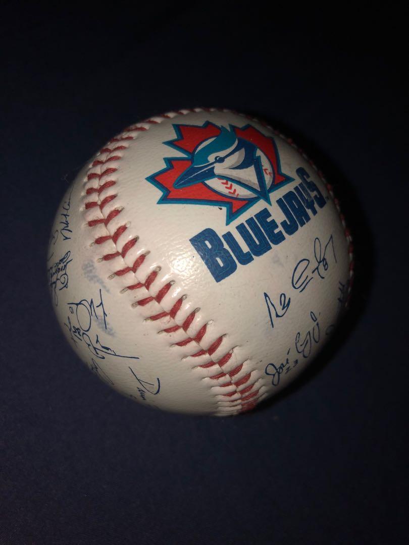 RETRO TORONTO BLUE JAYS SIGNED BASEBALL (IMPRINTED) 1998