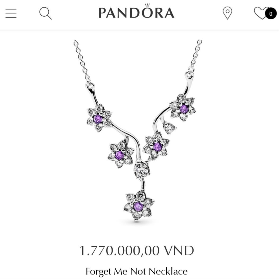 RRP $130 Authentic Pandora Necklace * Forget Me Not Necklace *