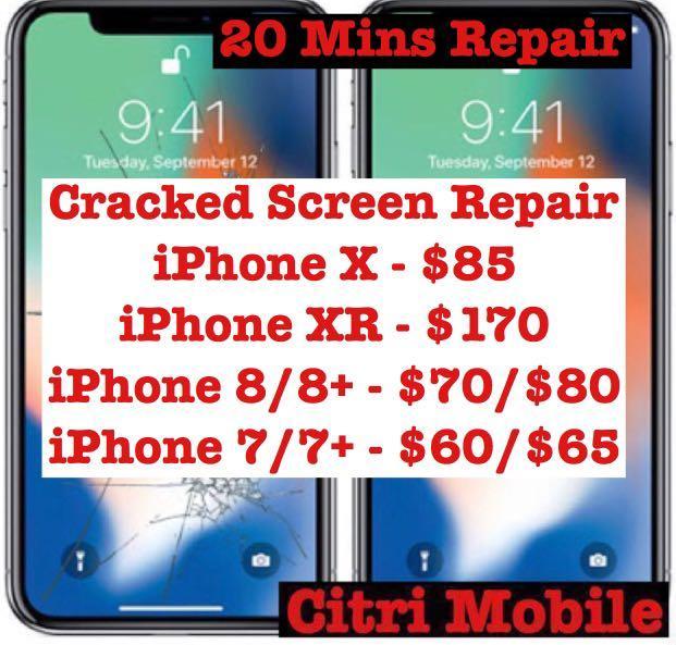 Samsung Note 8 9 S10 Plus Repair, iPhone Phone Glass Repair