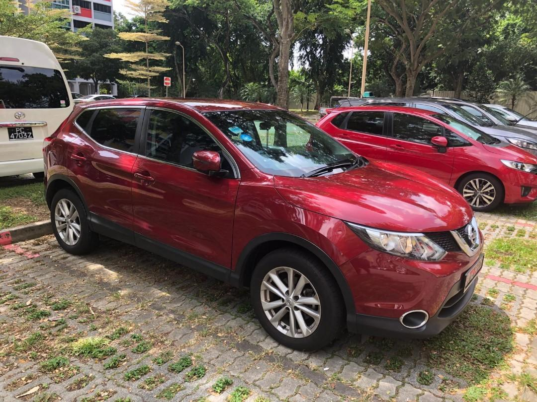 🚘Sexy Red 2016 Nissan Qashqai for Rent!🚗