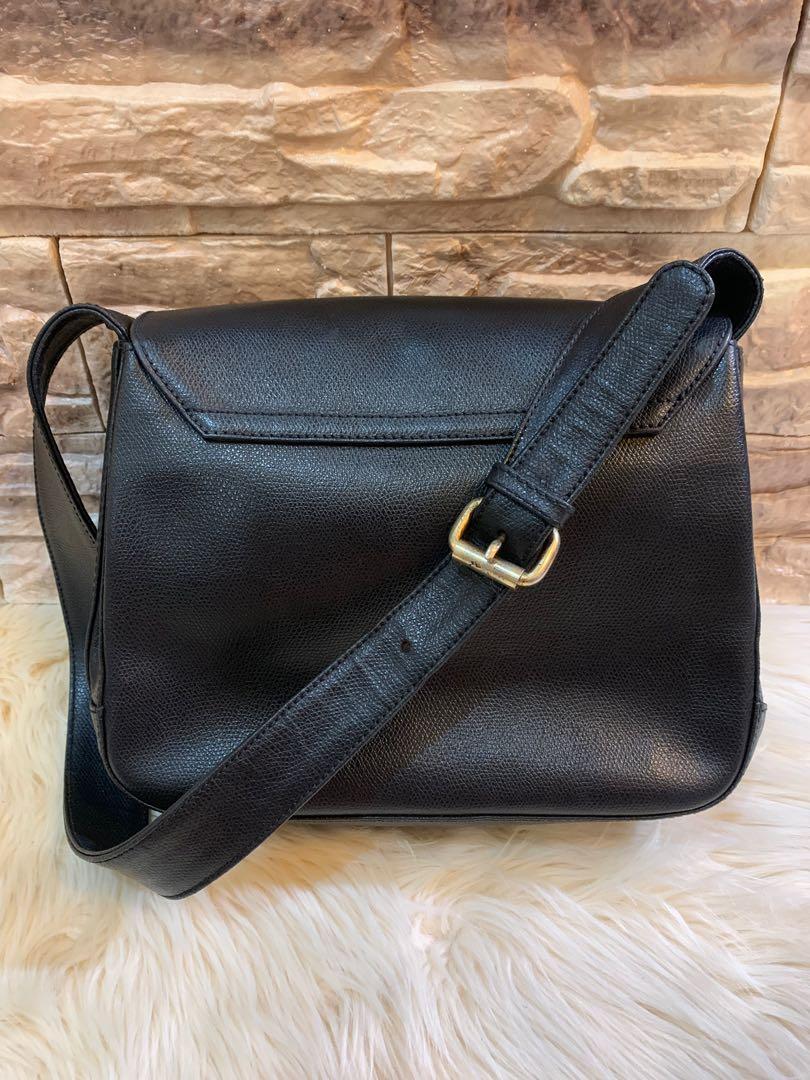 Shoulde bag tas bahu Bonia original auth full leather size 26 cm mulus