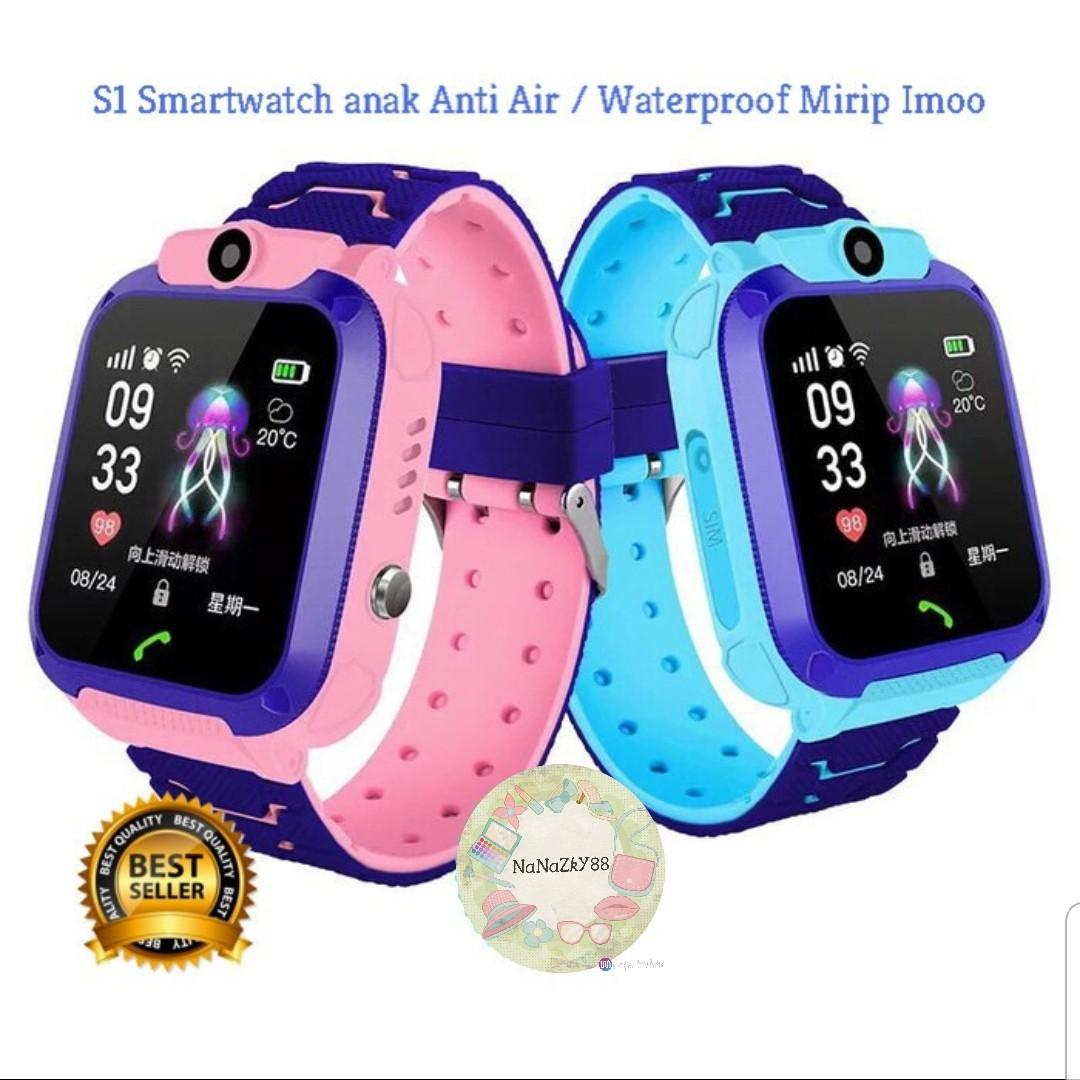 Smart watch jam tangan anak pintar anti air & gps tracker #belanjabulanan