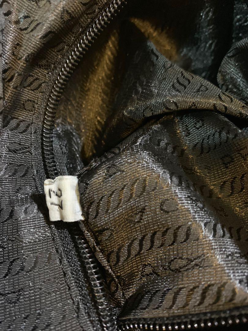 Tas prada original authentic mulus fabric mix leather size 26 cm