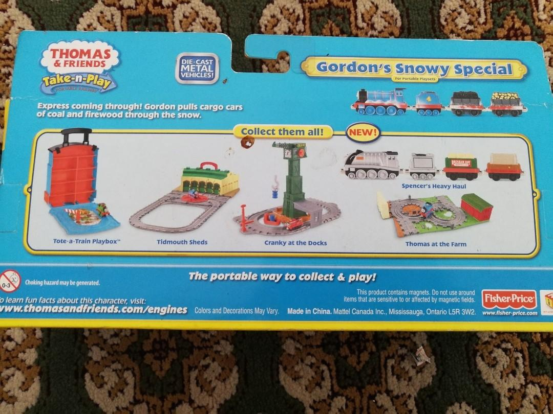 Thomas and Friends Take-n-Play Gordon's Snowy Special #carouselland