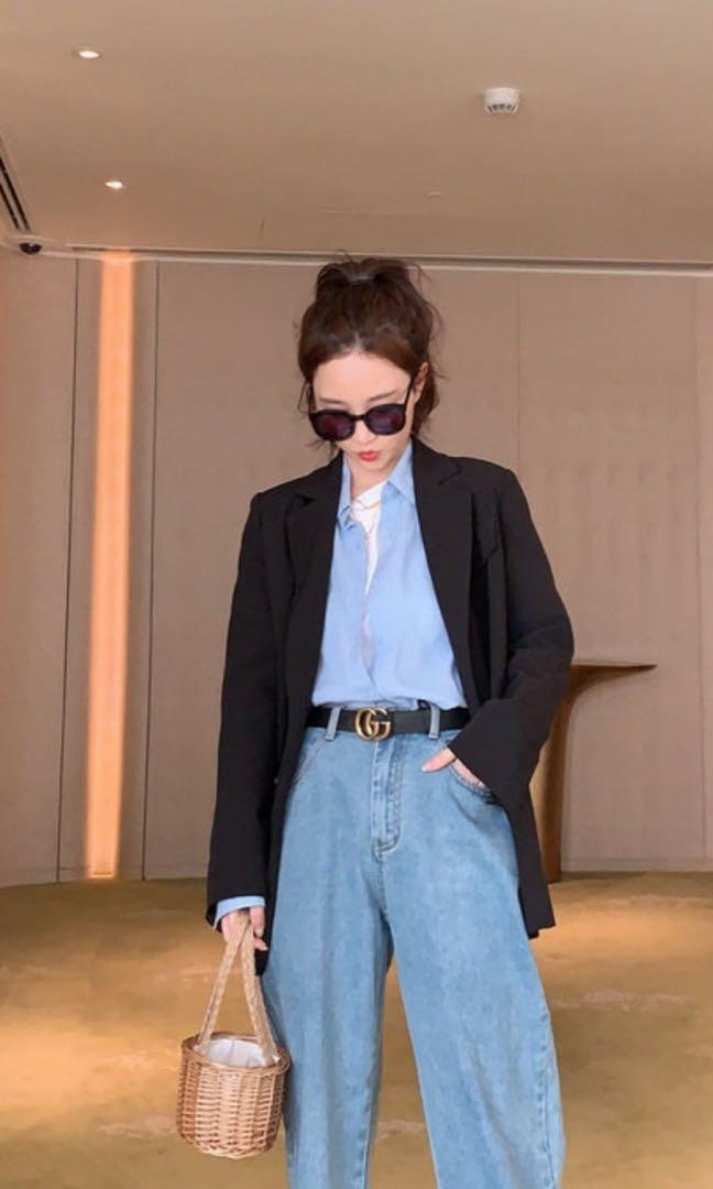 Women Ladies Long Sleeve Slim Blazer Suit Coat Work Jacket Casual Top Size 12