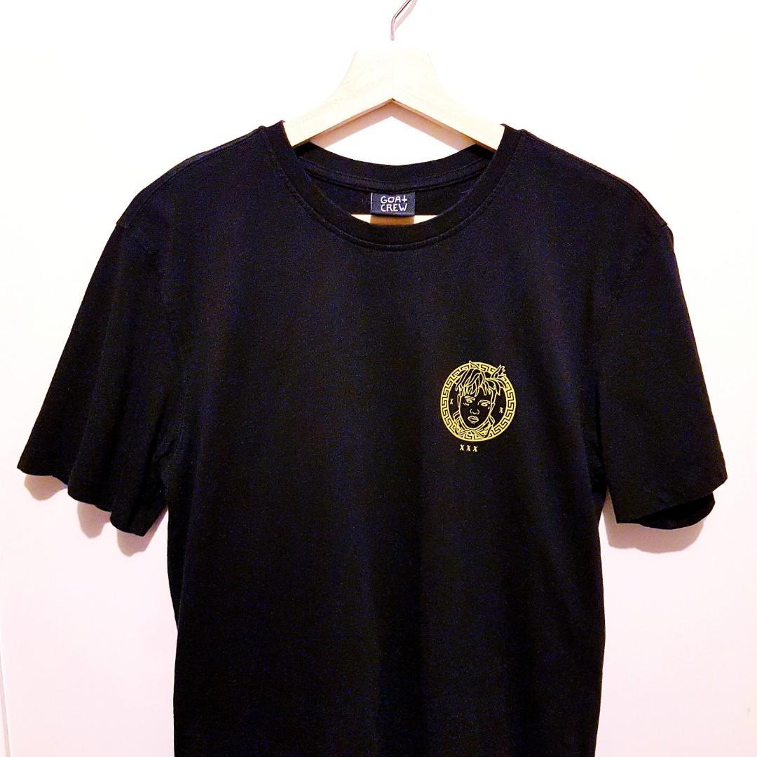 xxxTentacion Black and Gold Goat Crew Small T shirt