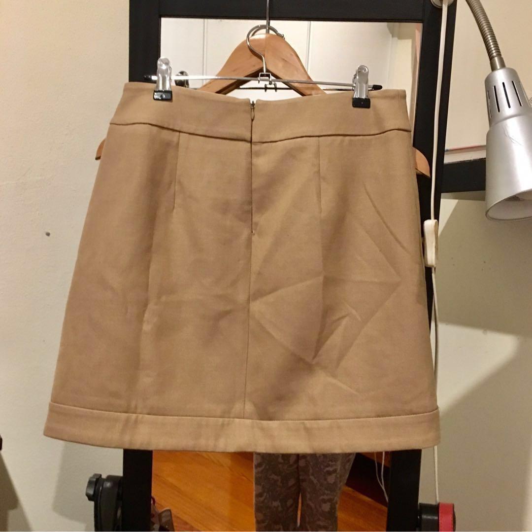 Zara Camel/Tan/Beige Winter Mini Pencil Skirt