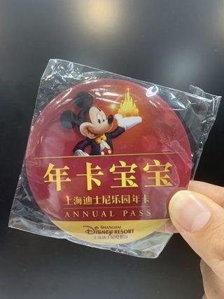 上海迪士尼樂園年卡寶寶貼紙