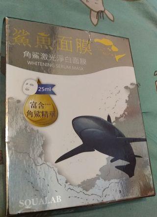 🚚 鯊魚面膜 角鯊激光淨白 面膜 5片入