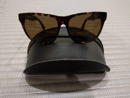框框 琥珀色太陽眼鏡
