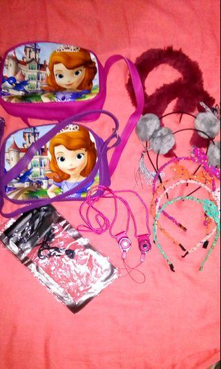 TAKE ALL Girls Shoulder Bags and Headbands
