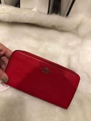 【Clearance】Coach zip ard long wallet