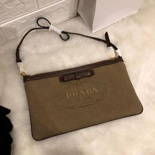 【Clearance】Prada Wristlet (can be shoulder carry)