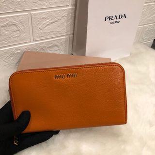 【Clearance】Miumiu zip ard long wallet