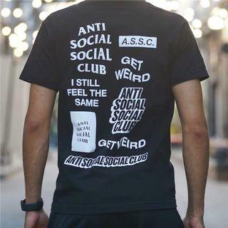 清貨優惠‼️全新Anti Social Social Club-ASSC logo tee(黑)