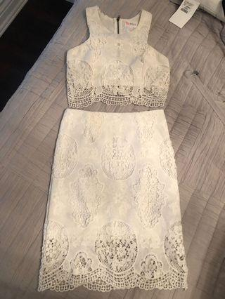 White lace outfit size S