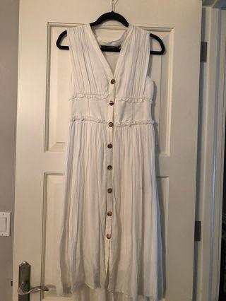 Zara white dress size S