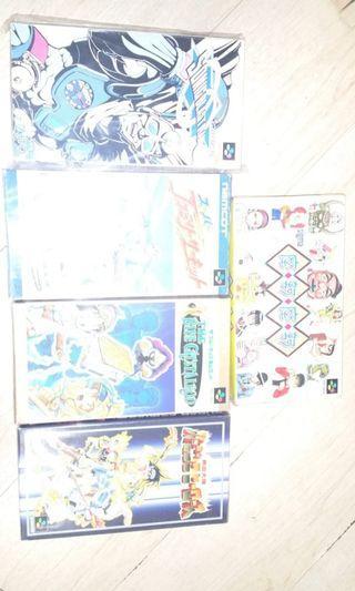 超任日本盒帶9盒有書,只有右上一盒沒有書,加200送二合一超任紅白機