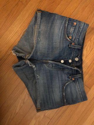 Levi's shorts from Aritzia