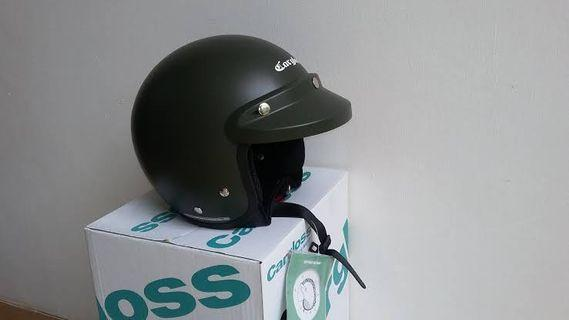 Helm cargloss army visor cembung BOGO style