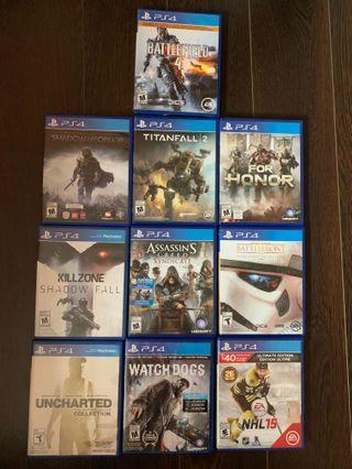PS4 Games $10 Each